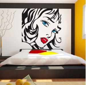 Vinilo decorativo rostro de mujer vinilos decorativos for Imagenes cuadros abstractos juveniles