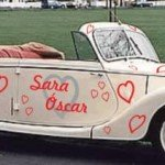 Kit de stickers para el automóvil de la boda