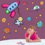 Vinilo Decorativo Niña Astronauta