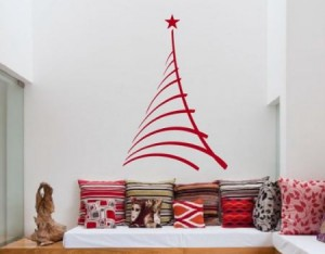 Vinilo decorativo arbol de navidad vinilos decorativos - Arbol de navidad de pared ...