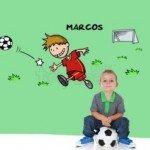 A todo fútbol para tu niño en su dormitorio