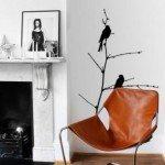 Delicada rama con pájaros para decorar cualquier habitación