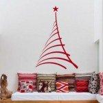Sencillo, limpio y barato un árbol adhesivo de Navidad