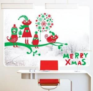 Vinilo decorativo merry xmas para la navidad vinilos - Vinilos decorativos de navidad ...