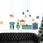 Vinilo decorativo regalo de navidad