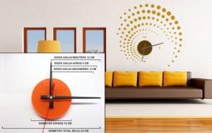 Vinilo decorativo reloj de pared vinilos decorativos - Reloj vinilo decorativo ...