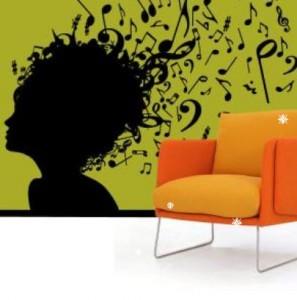 Vinilo decorativo silueta musical vinilos decorativos for Vinilos decorativos sobre musica