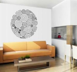 Vinilo decorativo espirales y circulo vinilos decorativos for Vinilos pared mandalas