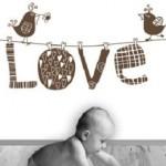 """Vinilo Decorativo para bebés a puro """"love"""""""