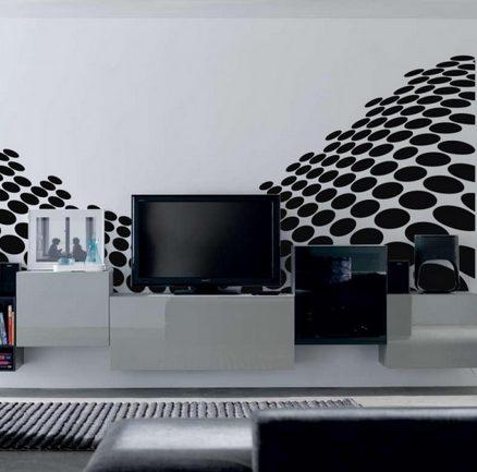 Vinilo decorativo moderno vinilos decorativos for Sala vinilo