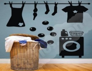 Vinilo Decorativo Lavadora de ropa