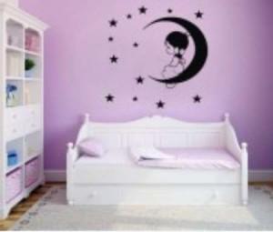 Vinilo Luna con estrellas