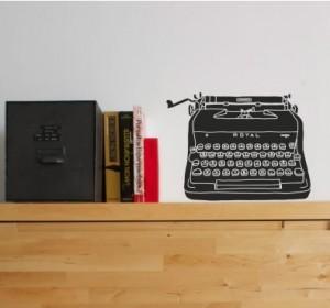 Vinilo Decorativo Maquina de Escribir