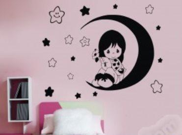 Vinilo decorativo para dormitorios infantiles vinilos for Vinilos habitacion infantil nina