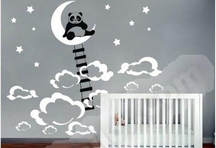 Vinilo decorativo oso panda decoracion infantil vinilos decorativos - Vinilos decorativos para pared infantiles ...