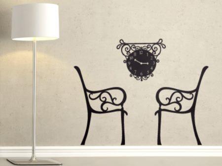 Vinilo decorativo momento para dos vinilos decorativos - Reloj vinilo decorativo ...