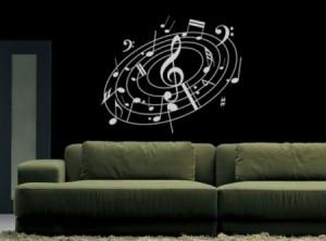 Vinilo Decorativo Remolino musical