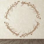 El texto circular de El Señor de los Anillos