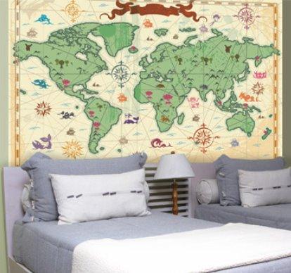 Vinilo decorativo mapa mundi vinilos decorativos - Vinilos mapa mundi ...