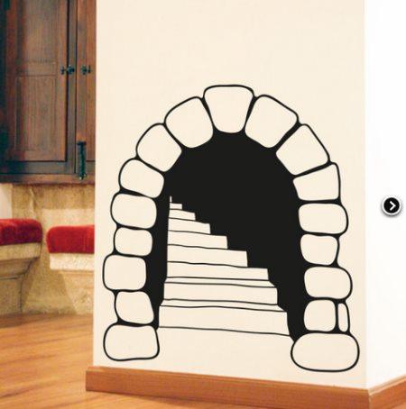Vinilo decorativo escalera medieval vinilos decorativos - Vinilos para escaleras ...