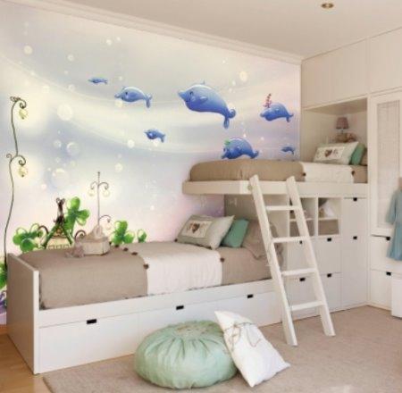 Vinilo decorativo mar y delfines vinilos decorativos for Vinilos para habitaciones de ninos