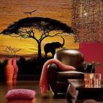 vinilo decorativo sabana africana