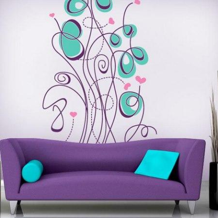 Vinilo decorativo flores modernas vinilos decorativos for Diseno vinilos