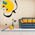 Anima tus paredes con este símpático gatito