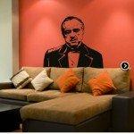 El capo de los Corleone en la pared
