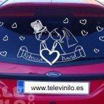 Vinilo decorativo para decorar el coche de los novios