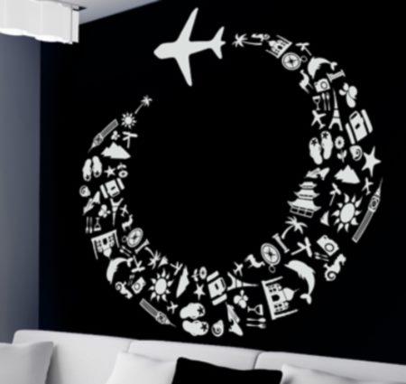 Vinilo Decorativo Avion
