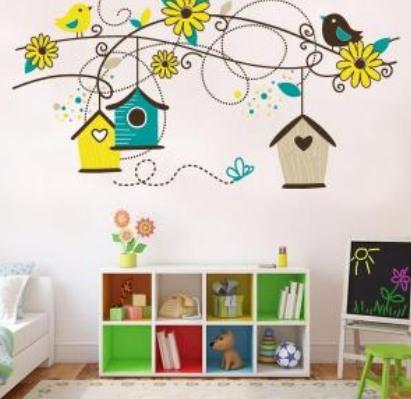 Vinilo decorativo naturaleza infantil vinilos decorativos - Decorar paredes ninos ...