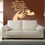 Hola en varios idiomas para decorar tu casa