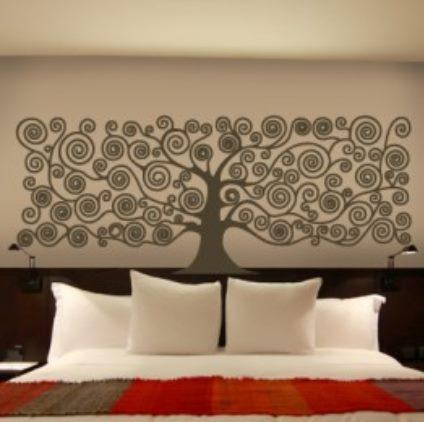 Vinilo decorativo arbol de la vida cuadrado vinilos for Vinilos decorativos para habitaciones matrimoniales