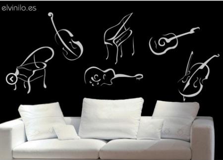 Vinilo decorativo instrumentos musicales vinilos decorativos for Vinilos decorativos sobre musica