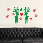 Vinilo Decorativo Renos de Navidad
