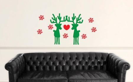 Vinilo decorativo renos de santa claus para navidad - Vinilos decorativos de navidad ...