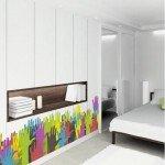 Cenefa con manos coloridas para decorar armarios ultralisos