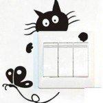 Simpático gatito para tus interruptores