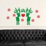 Una pareja de renos enamorados para Navidad