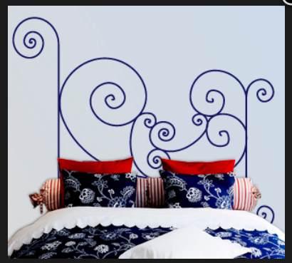 Vinilo decorativo cabecero de cama forja vinilos decorativos for Vinilos decorativos para recamaras