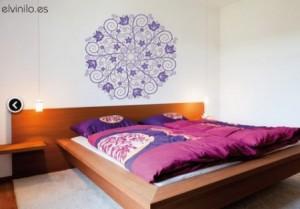 Vinilo Decorativo Mandala Cabecero de cama