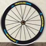 Vinilo Decorativo rueda triatlon
