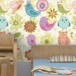Papel pintado altamente decorativo para los niños