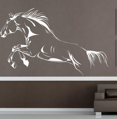 Vinilo decorativo caballo al galope vinilos decorativos - Pintar paredes con dibujos ...