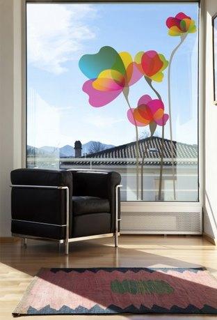 Vinilo decorativo flores translucidas vinilos decorativos - Cristal con vinilo ...
