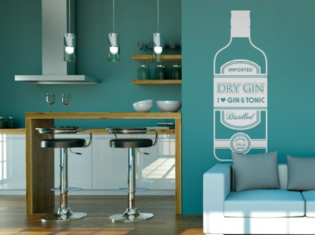 Vinilo decorativo gin tonic vinilos decorativos for Vinilos para bares