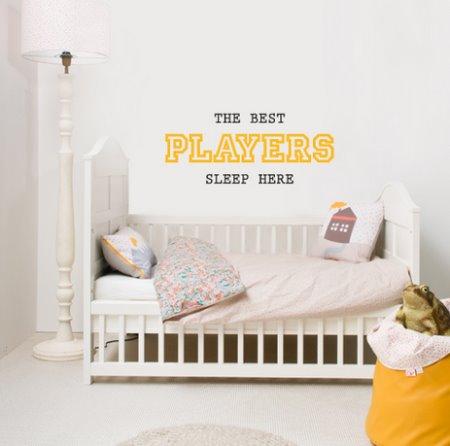 Vinilo decorativo best players vinilos decorativos for Vinilo frases dormitorio