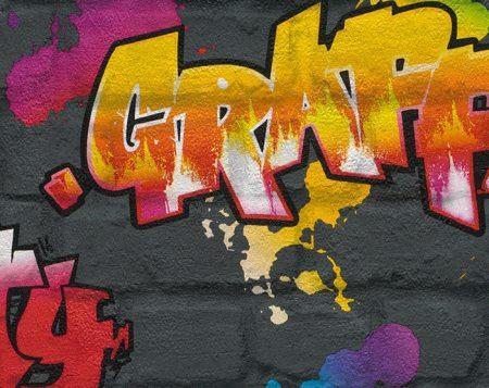 Papel Pintado Graffiti « Vinilos decorativos