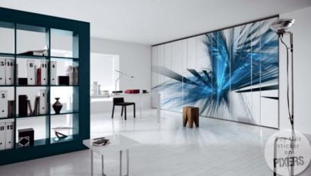 Vinilo decorativo cristales azules vinilos decorativos - Cristales decorativos para paredes ...